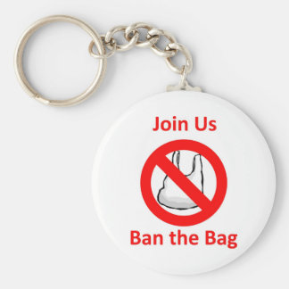 Join Us, Ban the bag around the World Key Chain