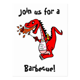 Join us for a Barbecue Dragon Postcard