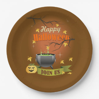 Join Us Halloween Party Paper Plates