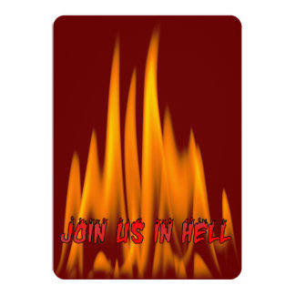 Join us in Hell Halloween Costume Party 13 Cm X 18 Cm Invitation Card