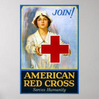Join! ~ Vintage Nurse World War 1. Print