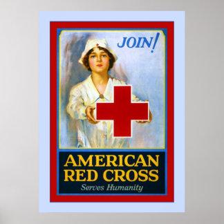 Join! ~ Vintage Nurse World War 1 Poster