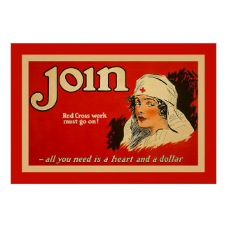 Join ~ Vintage Nurse WW1 Posters