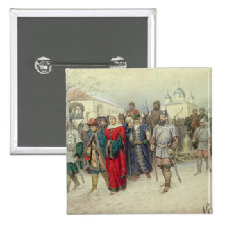 Joining of Great Novgorod 15 Cm Square Badge