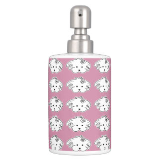 Joint bath, rose, small dog, the world of Lua Toothbrush Holders
