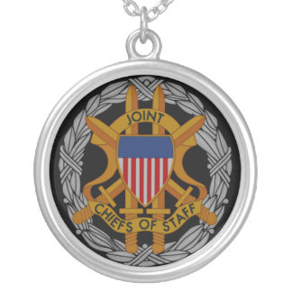 Joint Chiefs of Staff Emblem Round Pendant Necklace