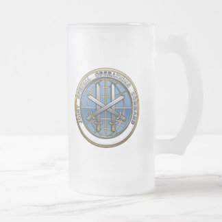 Joint Special Operations Command Frosted Glass Mug