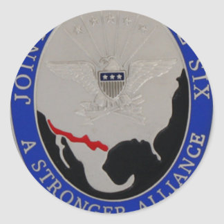 JOINT TASK FORCE 6 ROUND STICKER