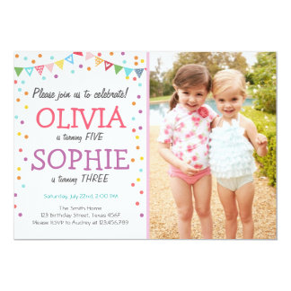 Twin Birthday Invitations Announcements Zazzle Co Uk