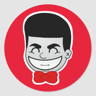 JOKAH SMILE™ Brand Red Round Stickers