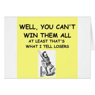 joke for winners! cards