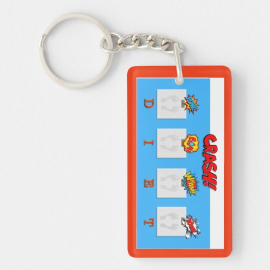 Joke on crash diets illustrations key ring