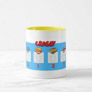 Joke on crash diets illustrations on mug