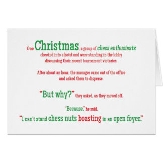 Joke Pun Funny Word Christmas Xmas Holiday Card