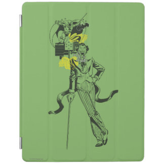Joker and Batman Comic Collage iPad Cover