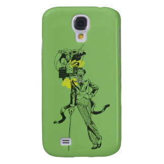 Joker and Batman Comic Collage Galaxy S4 Case