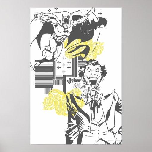 Joker and Batman Comic Collage Poster | Zazzle Joker Comic Poster