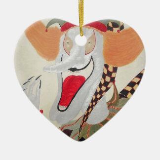Joker Ceramic Heart Decoration