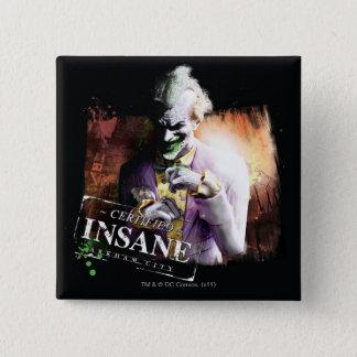 Joker - Certified Insane 15 Cm Square Badge