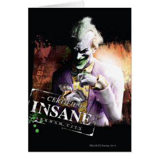 Joker - Certified Insane Greeting Card