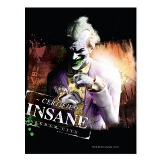 Joker - Certified Insane Postcard