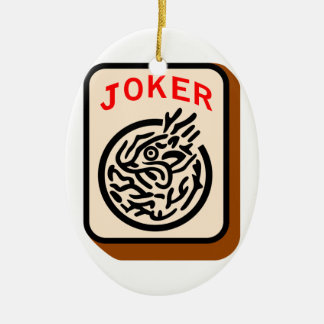 Joker Ceramic Oval Decoration