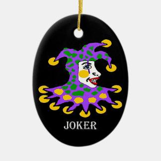 Joker Double-Sided Oval Ceramic Christmas Ornament
