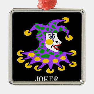 Joker Silver-Colored Square Decoration