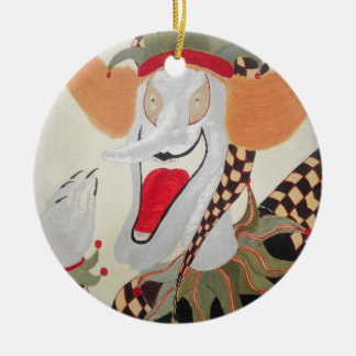 Joker Double-Sided Ceramic Round Christmas Ornament
