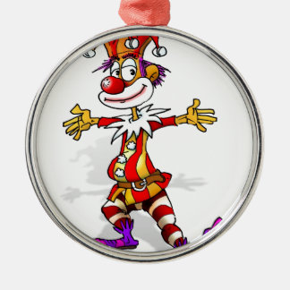 Joker Round Metal Christmas Ornament