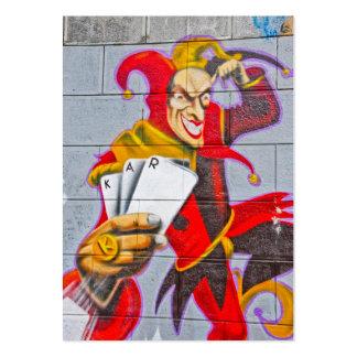 Joker graffiti business card template