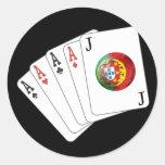Joker no Jogo - Selecção das Quinas Round Sticker
