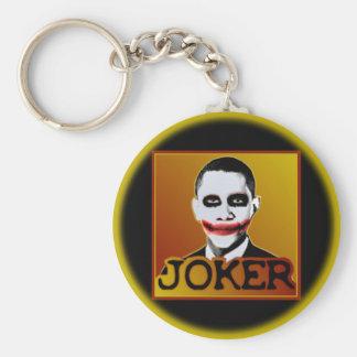 Joker Obama Basic Round Button Key Ring