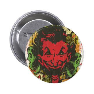 Joker Retro Comic Book Montage 6 Cm Round Badge