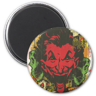 Joker Retro Comic Book Montage Magnet