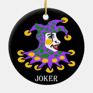 Joker Round Ceramic Decoration