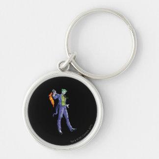 Joker stands with gun key ring