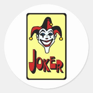 Joker Round Stickers