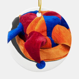 JokerCap103013.png Round Ceramic Decoration