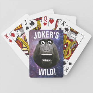 Joker's Wild Grinning Monkey Playing Cards
