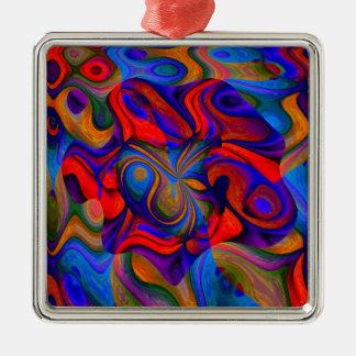 Jokers Wild Silver-Colored Square Decoration