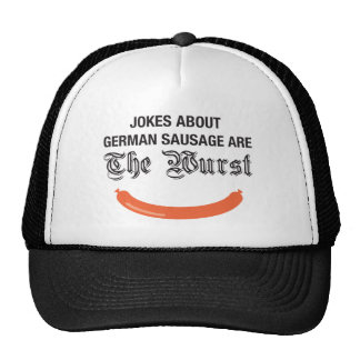 Jokes about German sausage are the Wurst Hats