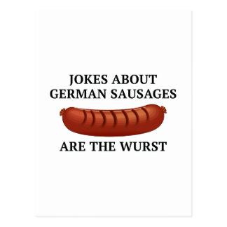 Jokes About German Sausages Are The Wurst Postcard