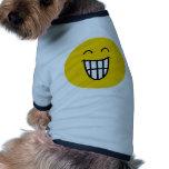 Joking around Smiley face Dog Shirt
