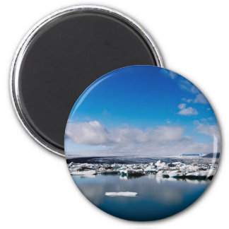 Jökulsárlón #5 6 cm round magnet