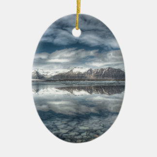 Jokulsarlon glacial lagoon, Iceland Ceramic Oval Decoration