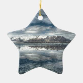 Jokulsarlon glacial lagoon, Iceland Ceramic Star Decoration