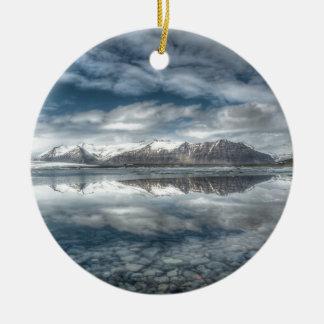 Jokulsarlon glacial lagoon, Iceland Round Ceramic Decoration