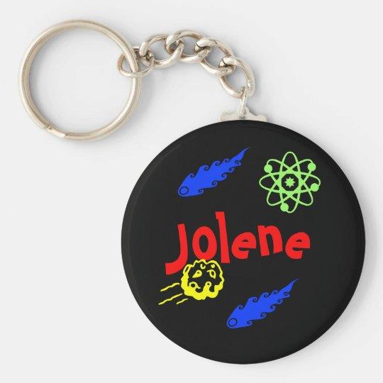 Jolene Basic Round Button Key Ring