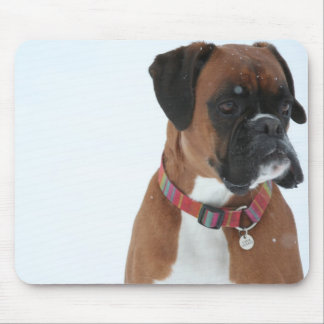 Jolie in the snow mouse mat